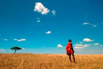 Kenya safari Maasai warrior in Masai Mara - Cottar's 1920s Camp.jpg