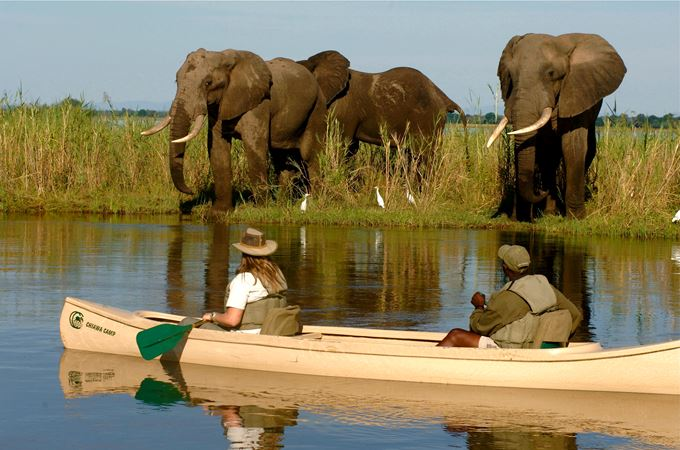 Zambia - Chiawa Camp - canoeing with Elle 2.jpg