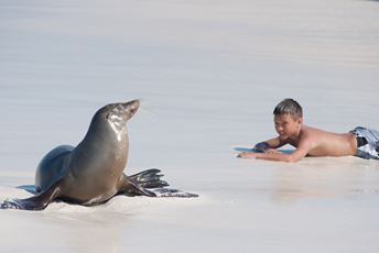 Highlights - Galapagos - Family - Sealion and boy - Credit Mark Downey thmbnl.jpg
