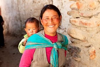 Nepal - Himalayas - Trekking - Lady and baby iStock med.jpg