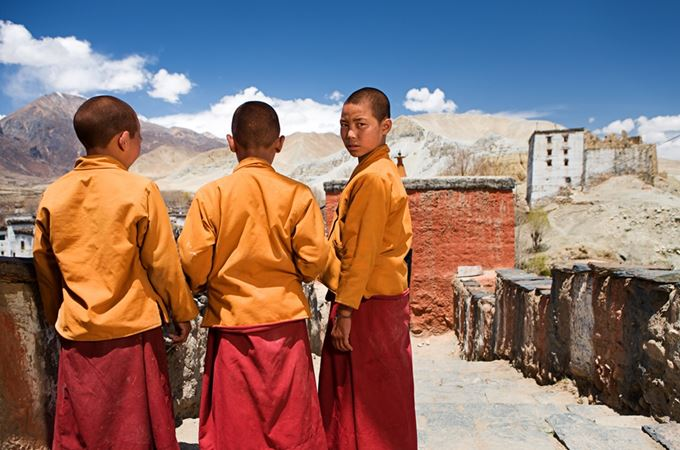 Asia - Nepal - Mustang - Monks - iS.jpg