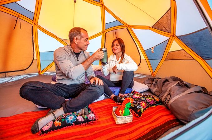 Latin America - Peru - Machu Picchu - Inca Trail morning coffee in camp - source Aracari.jpg