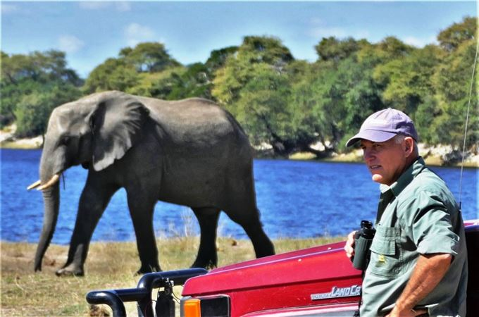 Botswana - guides - Grant Nel  with elephant.jpg
