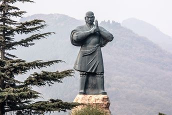 The master statue of Shaolin Kung Fu at Shaolin Temple in Dengfeng.jpg