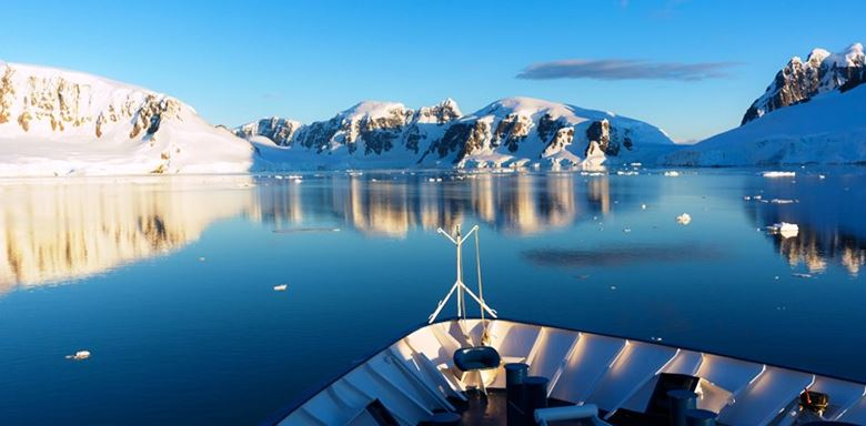 Polar Regions - Antarctica - Antarctic Continent - Hebridean Sky - Ship in Antarctica from Bow.jpg