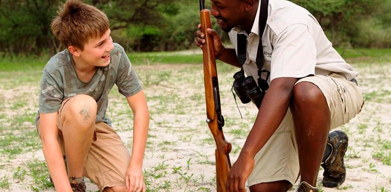 Africa - Botswana - Young Explorers - walk  with a guide.jpg