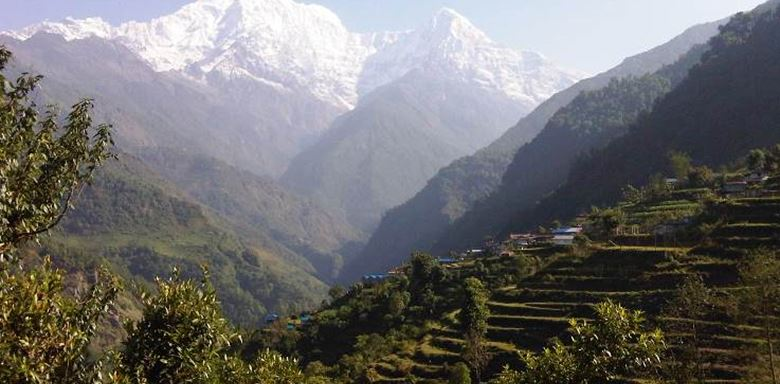 Fishtail Annapurna 3 village and terraces on trek - 4.jpg