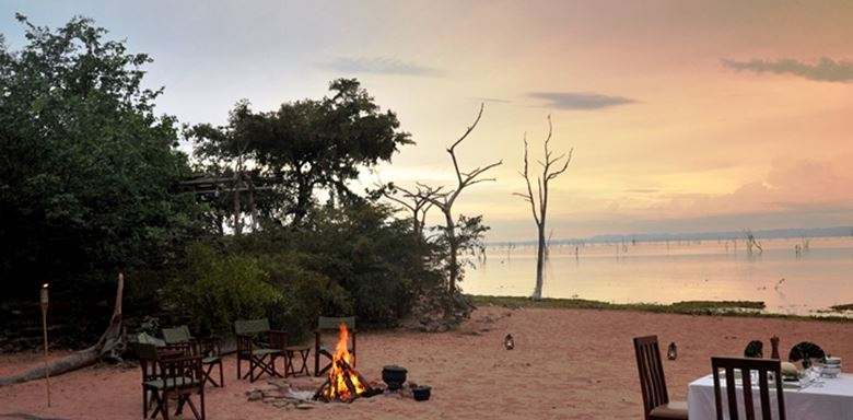 Zimbabwe - Changa Camp -Outside dinner - Beach scene - 3.jpg