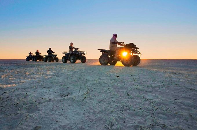 Quad biking in the Kalahari Desert