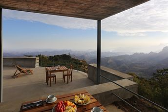 Verandah overlooking the Simiens at Limalimo lodge, Ethiopia