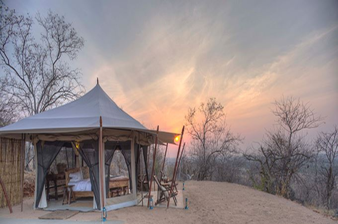 Guest Tent for the Kichaka Frontier in Ruaha Tanzania