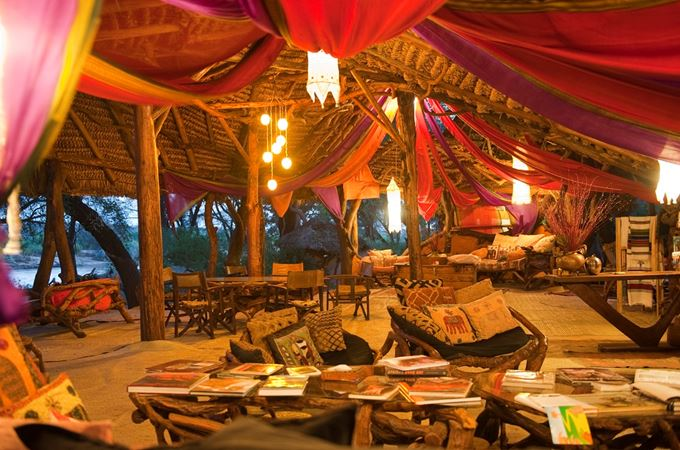 Mess tent at Elephant Watch Camp in Kenya