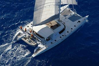 Indian Ocean Sailing Holiday - Lonestar catamaran aerial.jpg