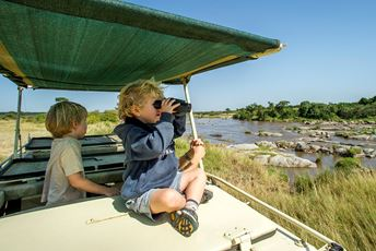Family safari Mkombes House -  Children on safari jeep - Nomad.jpg