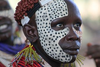 Ethiopia Omo Valley Karo - decorated woman.JPG