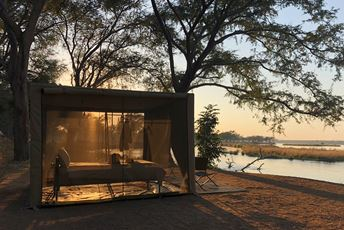 Zambia Lower Zambezi - luxury mobile tented walking safari camp sunrise - Tusk and Mane.jpg
